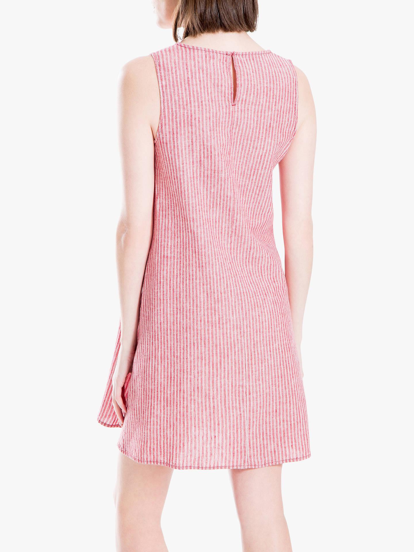 d41eeaa5c09d5b ... Buy Max Studio Sleeveless Stripe Linen Blend Dress