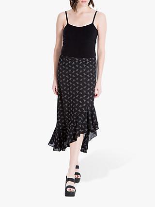 ddcacf2dcf0 Max Studio Frill Hem Floral Print Skirt