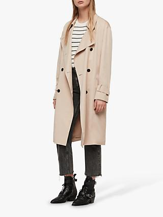 AllSaints Brooke Trench Coat, Nude Pink