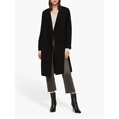 Image of AllSaints Aleida Duster Coat, Black