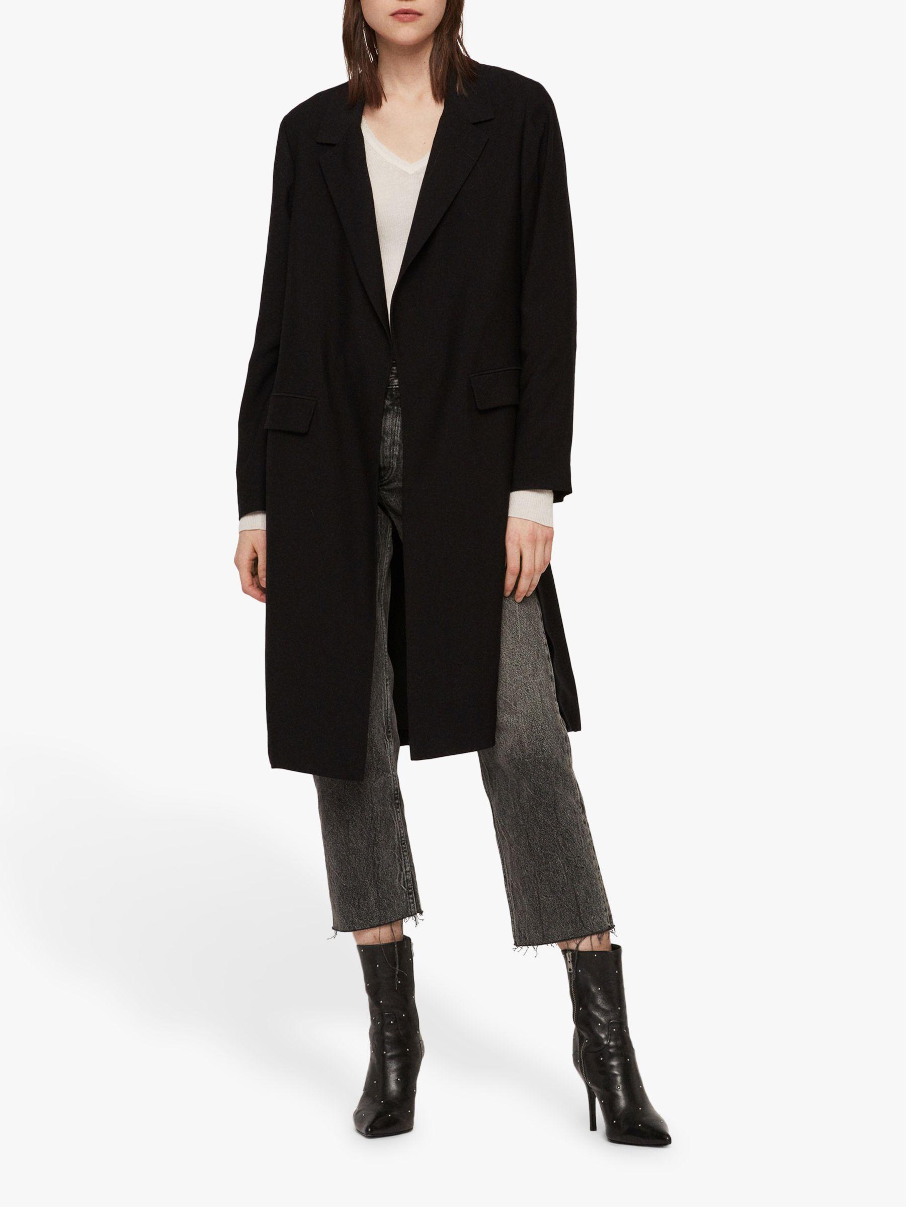 AllSaints AllSaints Aleida Duster Coat, Black