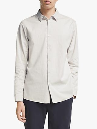Kin Soft Twill Cotton Long Sleeve Shirt, Off White