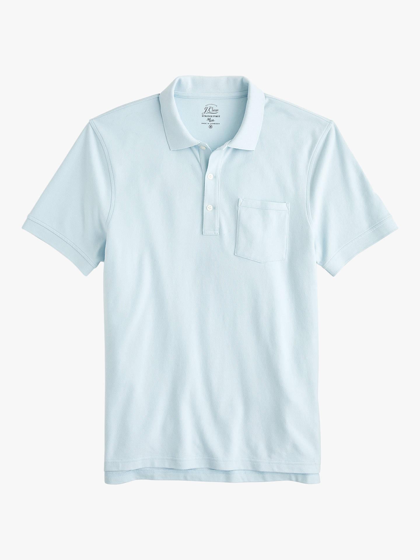 c23671818 Buy J.Crew Stretch Pique Short Sleeve Polo Shirt, Classic Sky, XXXXL Online