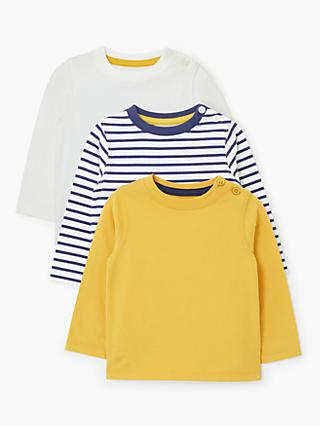 1f755ba7fb1d John Lewis & Partners Baby Long Sleeve Tops, Pack of 3, Multi