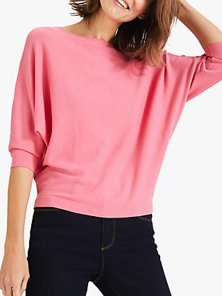 Phase Eight Cristine Batwing Top, French Rose