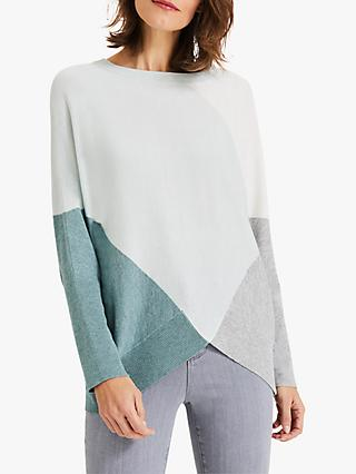 Phase Eight Charlize Colour Block Jumper, Sage