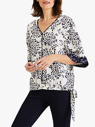 Phase Eight Adchaya Floral Print Blouse, Ivory