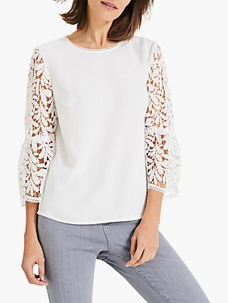 9c8dd6e4580f7 Phase Eight Zennah Lace Bell Sleeve Blouse