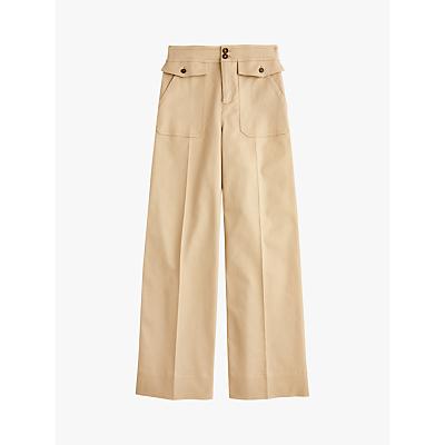 J.Crew Wide Leg Twill Trousers, Khaki