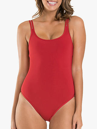 Buy JETS Jetset Double Strap Swimsuit, Chilli, 8 Online at johnlewis.com