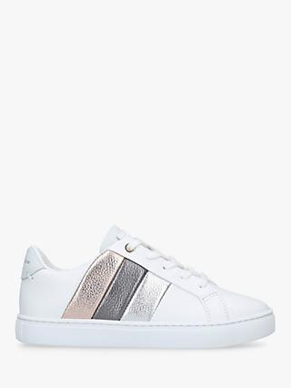 Kurt Geiger London Children's Mini Lane Metallic Stripe Shoes, White