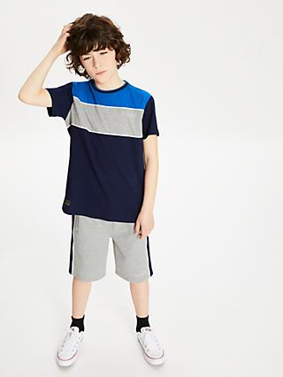 Anonimasu Boys' Colour Block Stripe T-Shirt, Navy