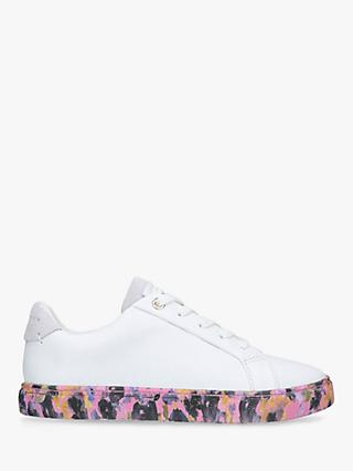 Kurt Geiger London Children's Mini Lane Floral Sole Shoes, White/Pink/Multi