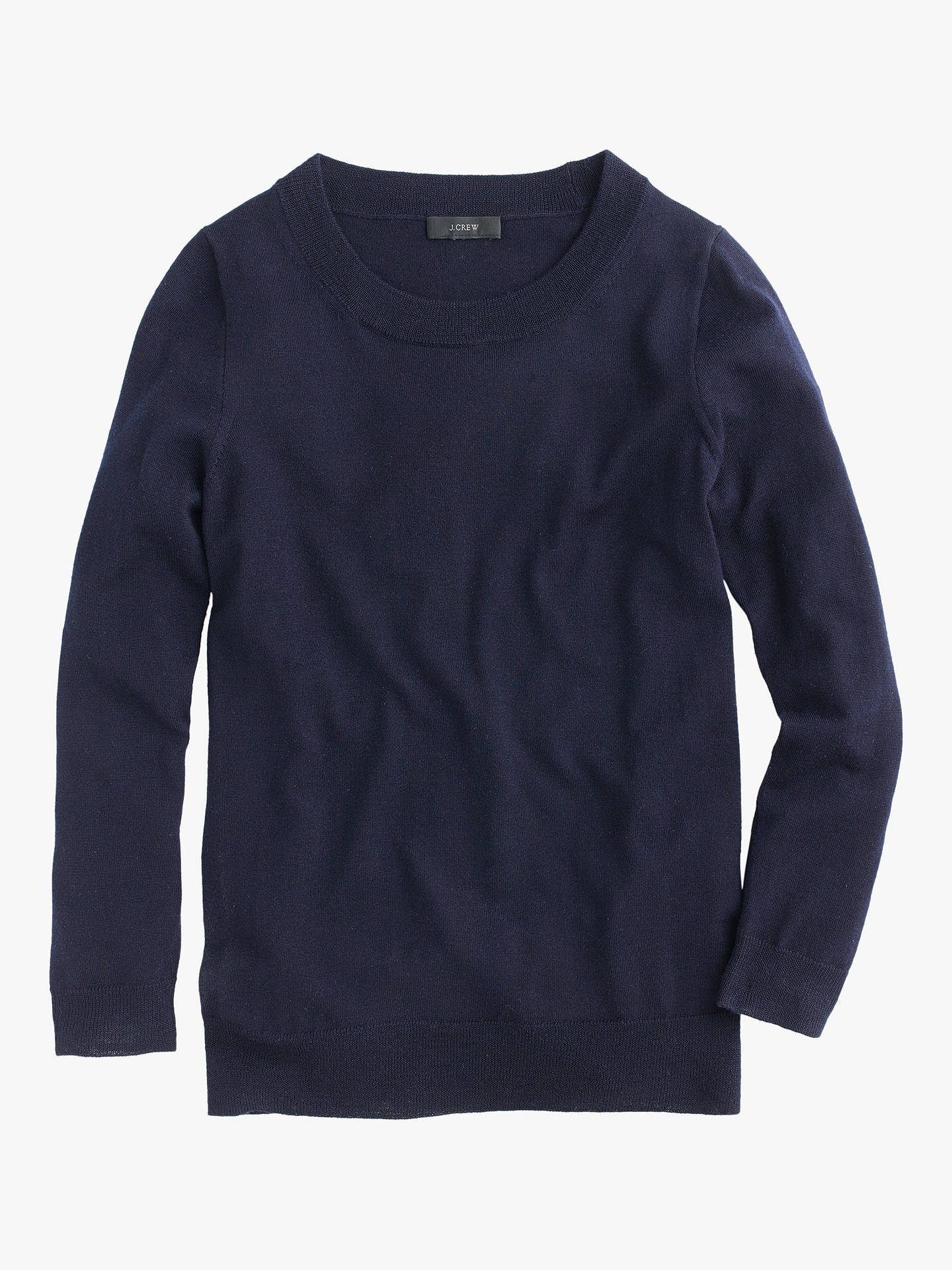 Buy J.Crew Tippi Merino Wool Jumper, Navy, XXS Online at johnlewis.com