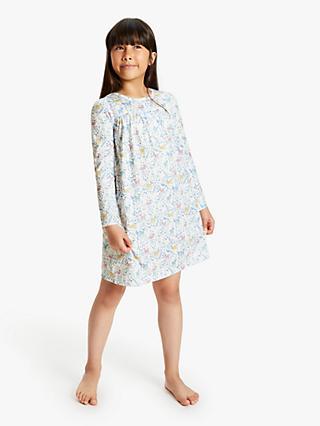 8abd6edb56 John Lewis & Partners Girls' Woodland Deer Print Night Dress, ...