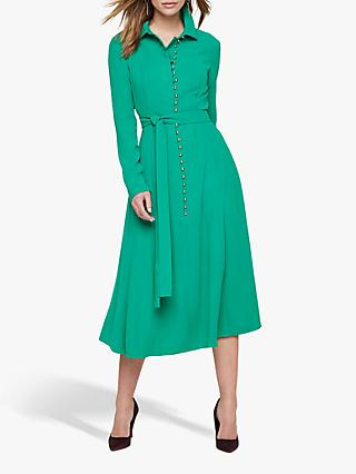 Damsel in a Dress Lanie Waist Tie Dress, Green