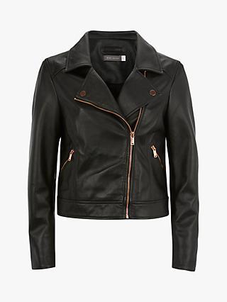 04ad89c008c Mint Velvet Leather Zip Biker Jacket
