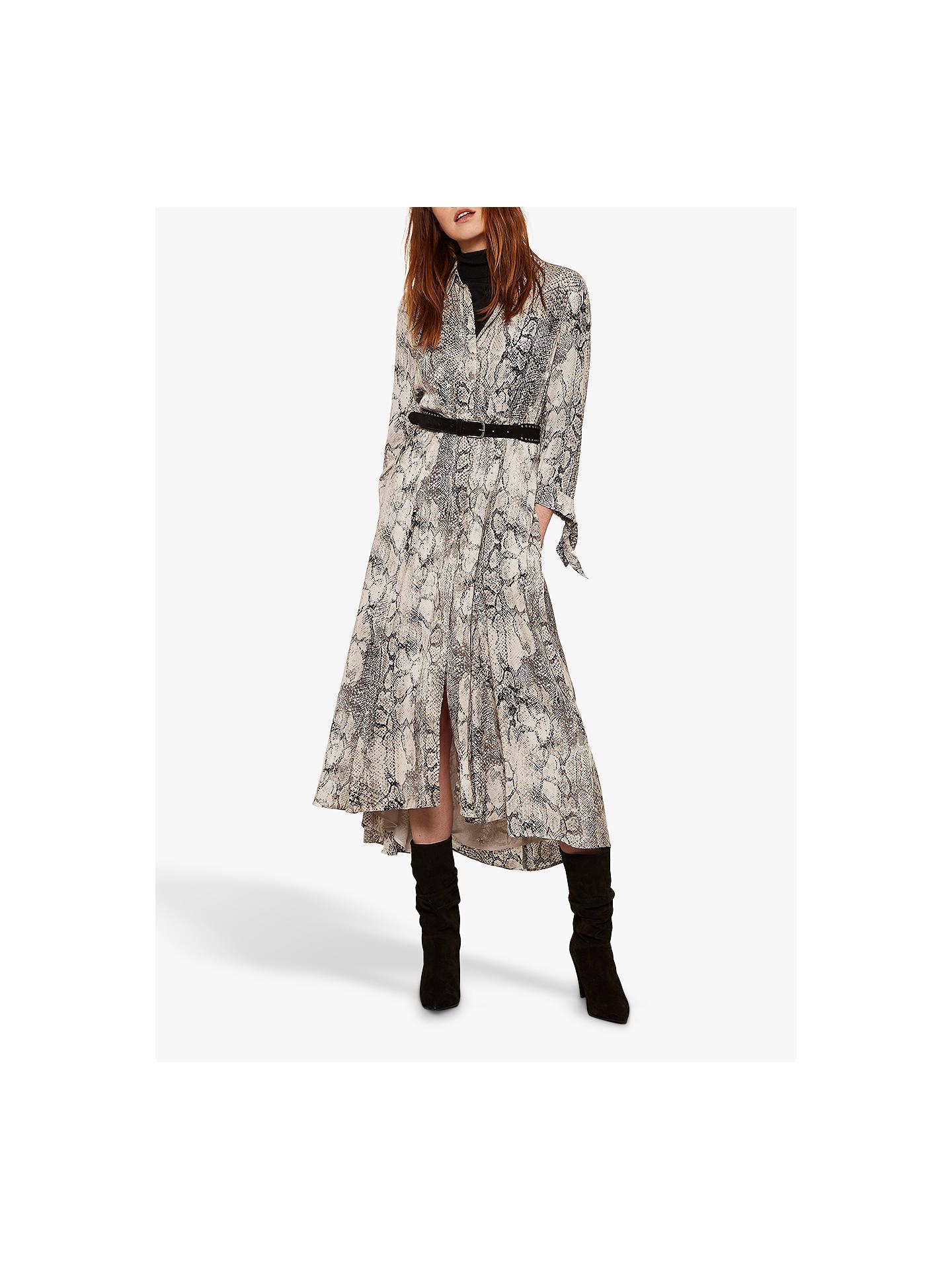 great deals good quality lowest price Mint Velvet Sasha Shirt Dress, Snake Print at John Lewis ...