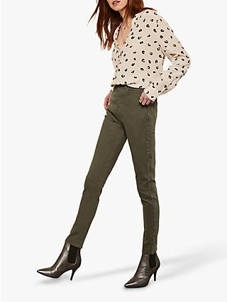 Mint Velvet Joliet Embellished Side Stripe Jeans