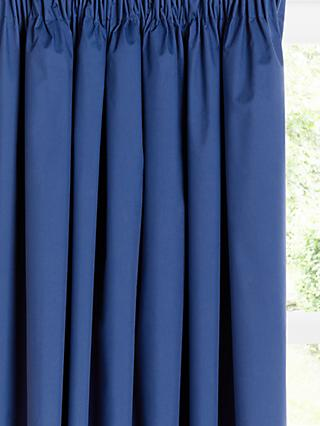 little home at John Lewis Plain Pencil Pleat Blackout Lined Children's Curtains
