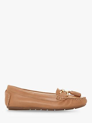 Dune Geena Tassel Moccasin Leather Loafers