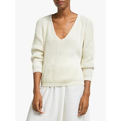 John Lewis & Partners Rib V-Neck Sweater
