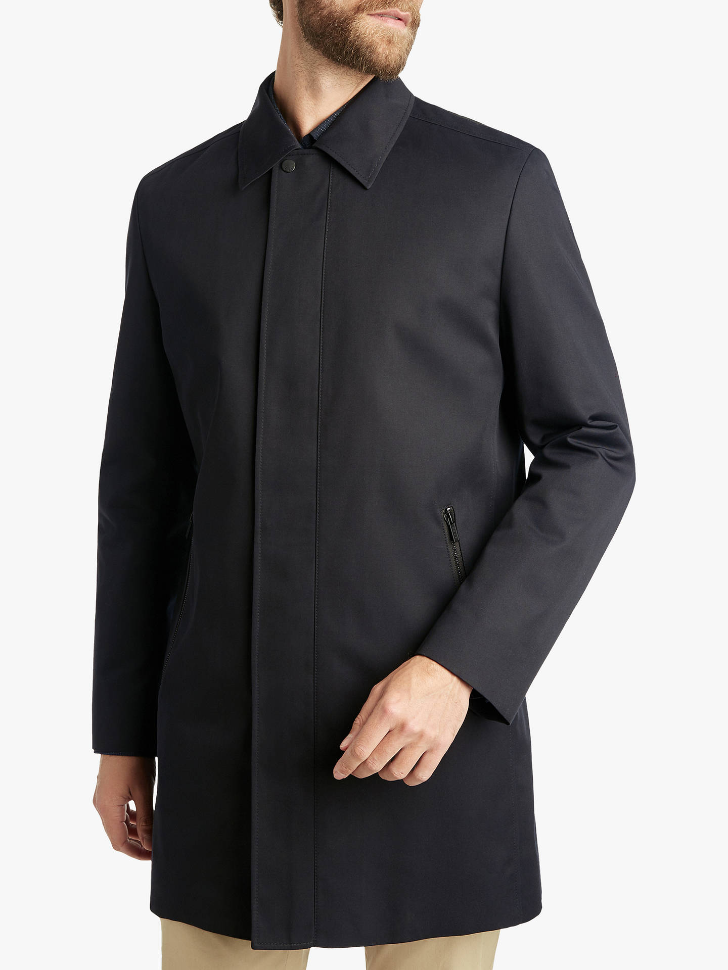 a201e7fab Buy HUGO by Hugo Boss Marec Water Repellent Tailored Mac, Black, 36R Online  at ...