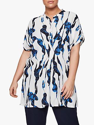 e4f718dd71b7d JUNAROSE Curve Nahal Abstract Print Tunic Top