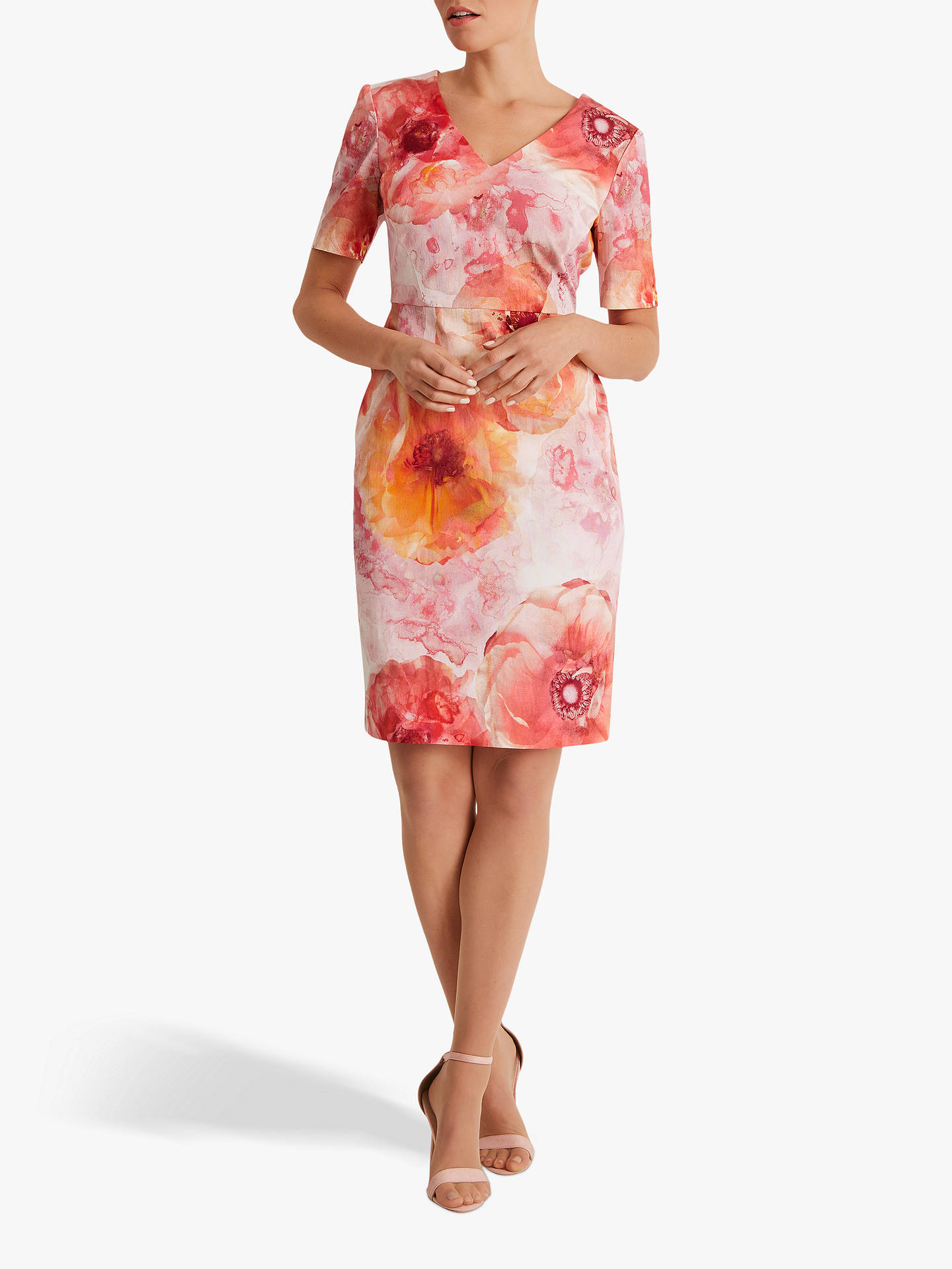 Buy Fenn Wright Manson Petite Floral Coyenna Dress, Peony, 12 Online at johnlewis.com