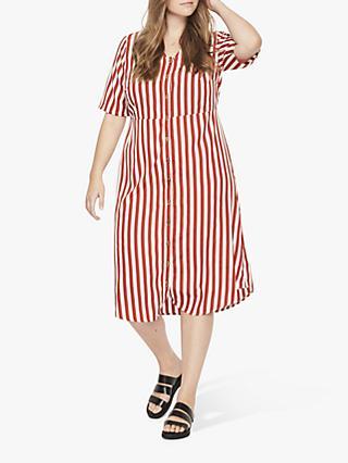 17474bae738 JUNAROSE Curve Jie Stripe Shirt Dress