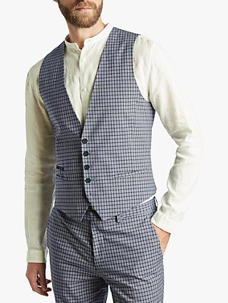 4a6c032697f HUGO by Hugo Boss Extra Slim Fit Check Waistcoat