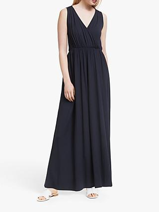 John Lewis & Partners Jersey Wrap Maxi Dress, Navy