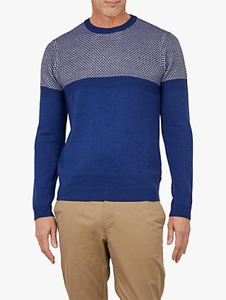 Ted Baker T for Tall Yetintt Stitch Jumper, Blue Mid
