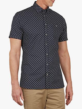 21cef8dae Ted Baker T for Tall Polartt Short Sleeve Printed Shirt, Navy