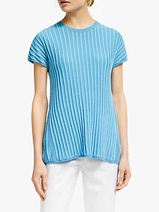 Winser London Cotton Short Sleeve Swing Jumper