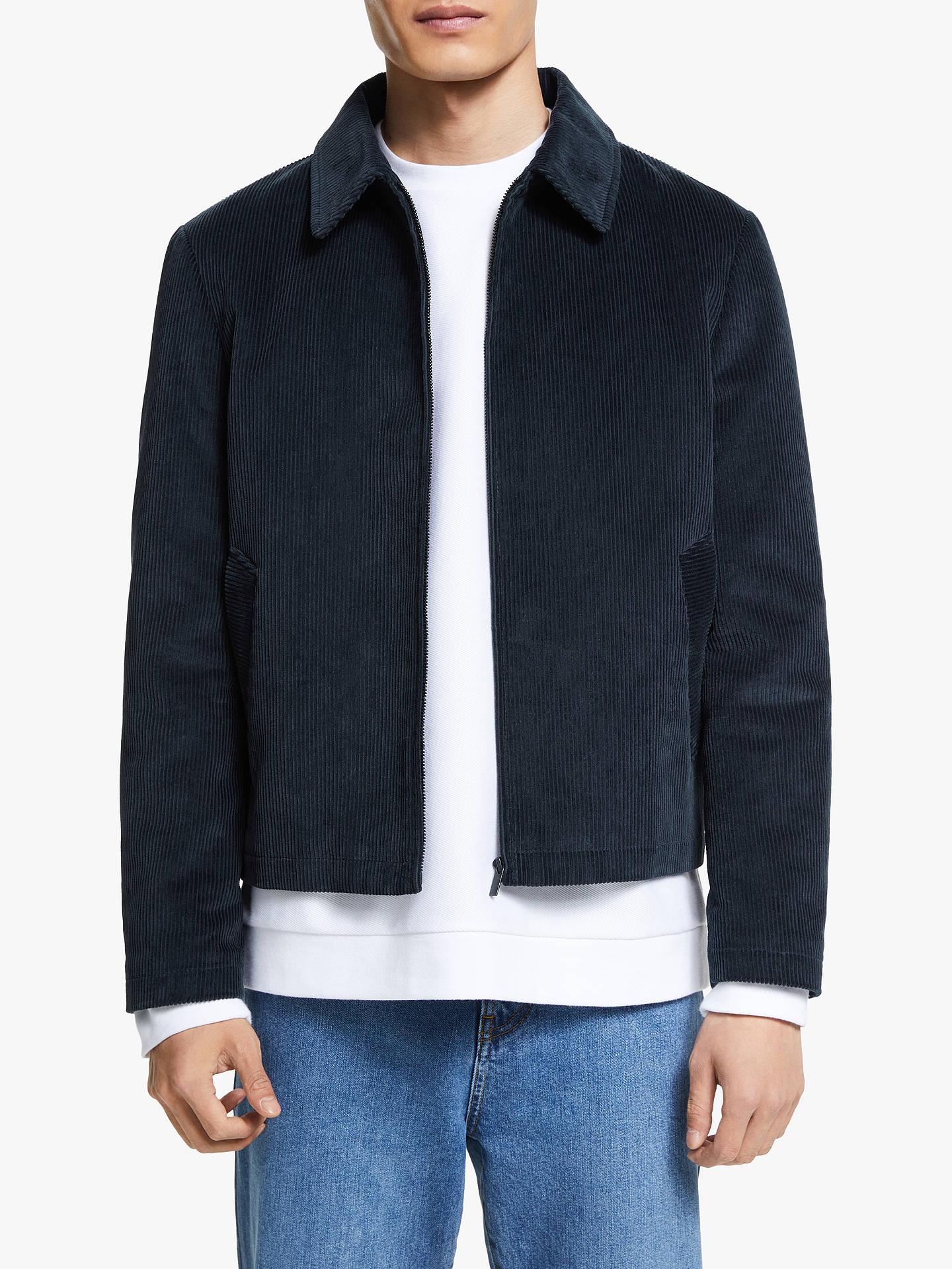 Kin Cotton Corduroy Harrington Jacket, Navy by Kin