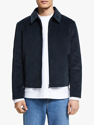 Kin Cotton Corduroy Harrington Jacket, Navy