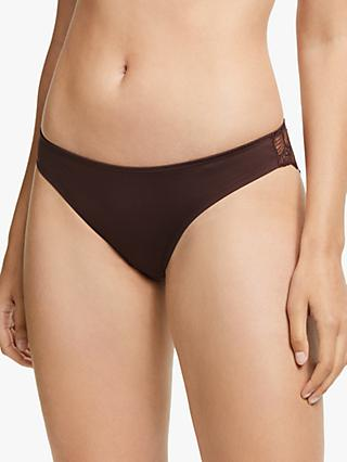 John Lewis & Partners Eleanor Microfibre Briefs, Bitter Chocolate