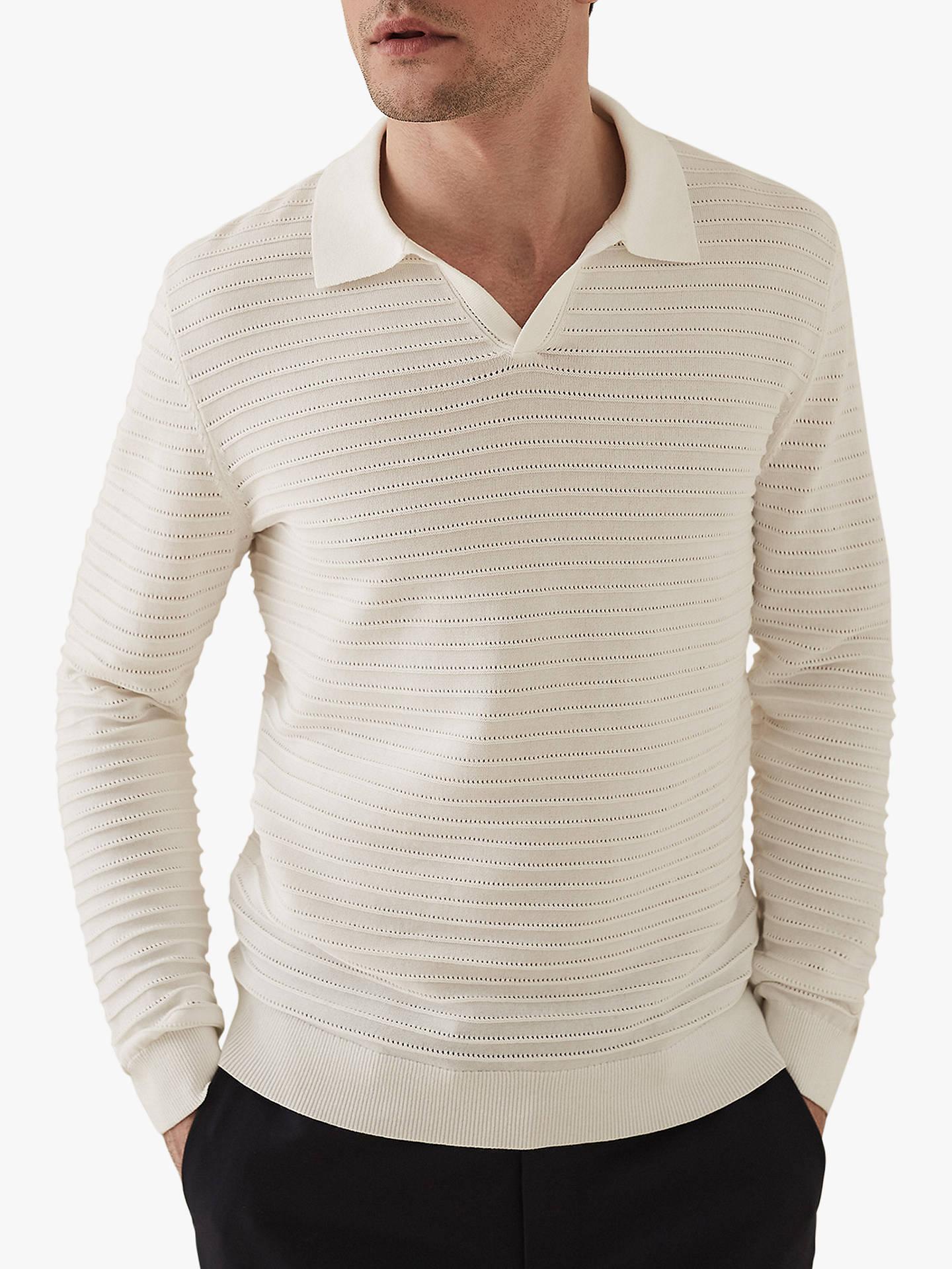 b24af2990b9d Buy Reiss Patterson Long Sleeve Open Collar Polo Shirt