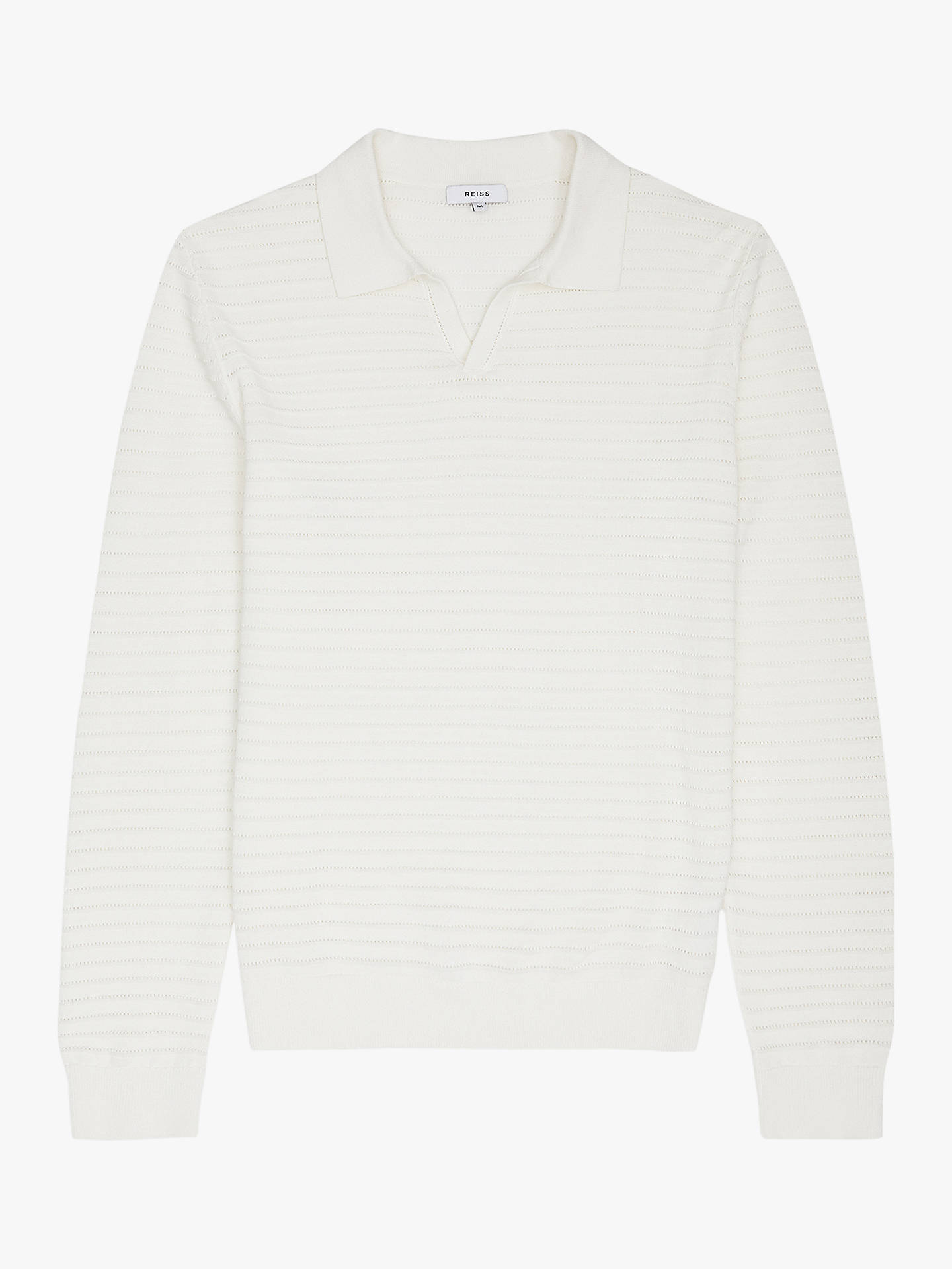 79d71a75ca81 ... Buy Reiss Patterson Long Sleeve Open Collar Polo Shirt