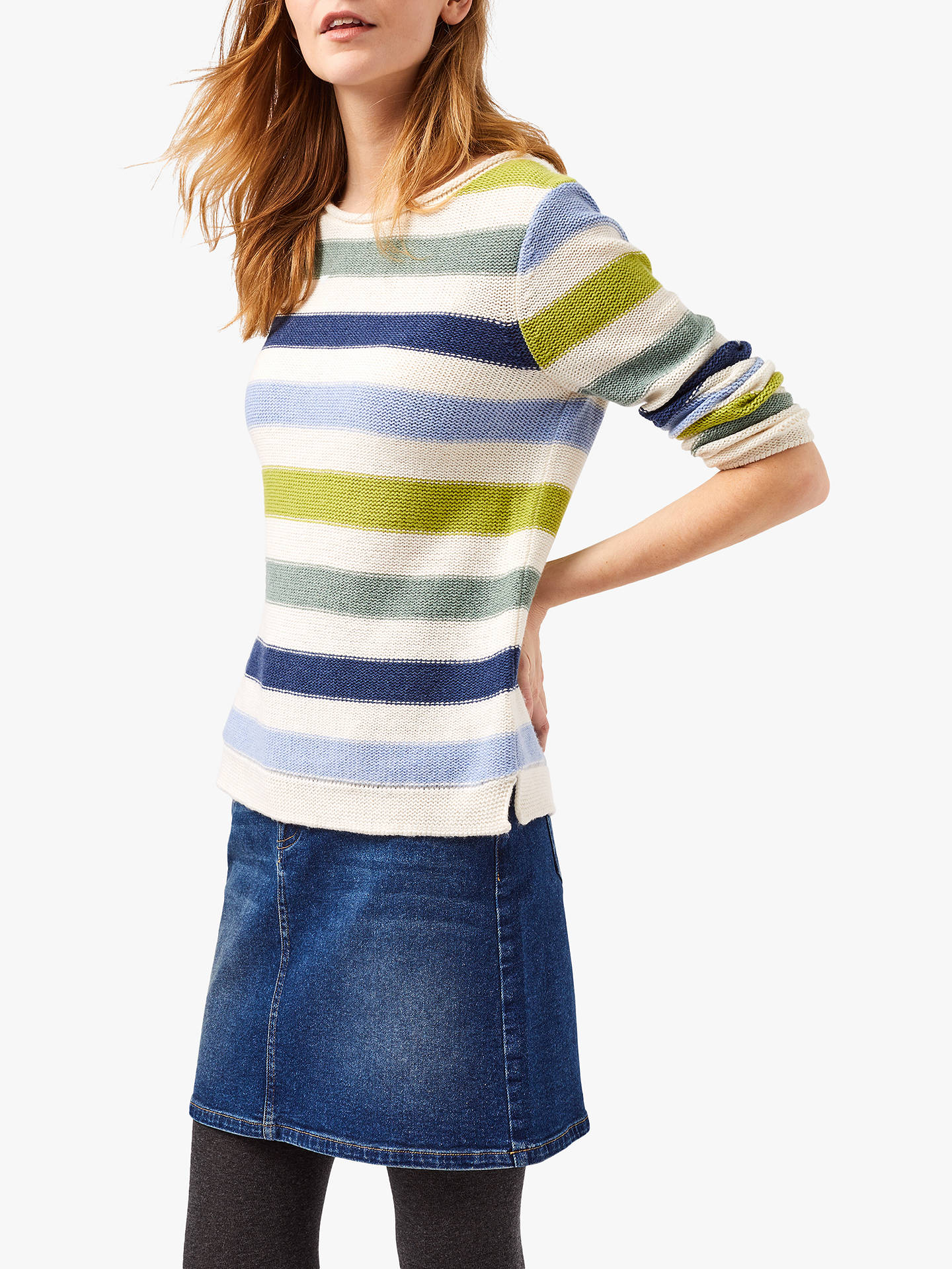 White Stuff Tide Stripe Jumper, Multi at John Lewis & Partners