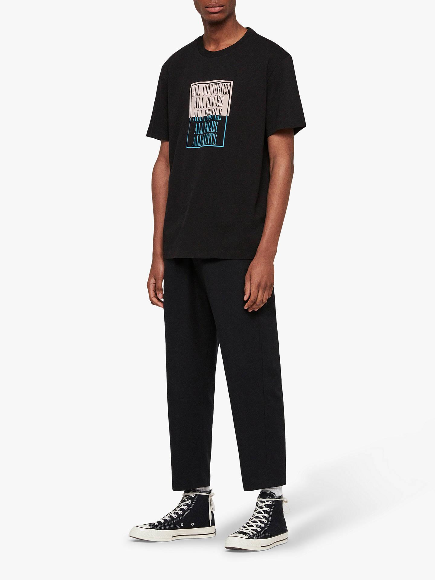 2fbb9ca76 ... Buy AllSaints Embrace Graphic Crew T-Shirt, Jet Black, L Online at  johnlewis ...