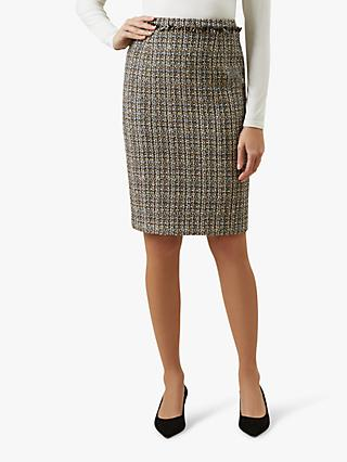 Hobbs Jessie Tweed Skirt, Neutral/Multi