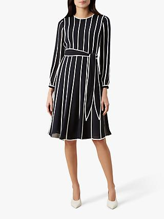Hobbs Rosemond Dress, Midnight/Ivory