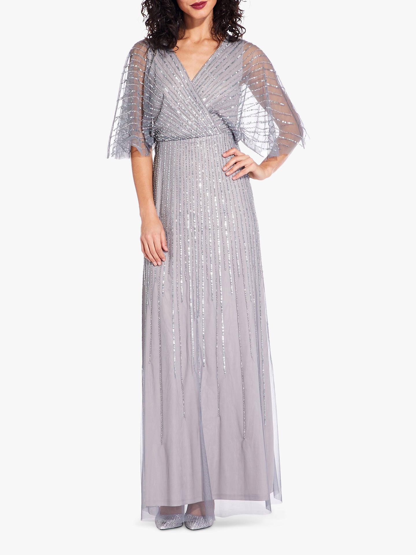 2fbb6a77a43 Adrianna Papell Mesh Sleeve Dress