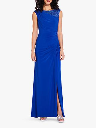 Adrianna Papell Sequin Cap Sleeve Dress, Cobalt