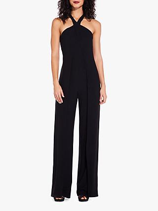 Adrianna Papell Foil Jersey Jumpsuit, Black