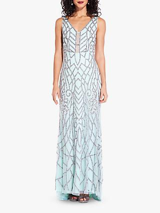 Adrianna Papell Beaded V-Neck Dress 079fd3991