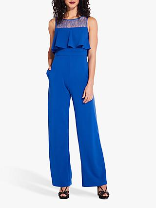 Adrianna Papell Lace Overlay Jumpsuit, Royal