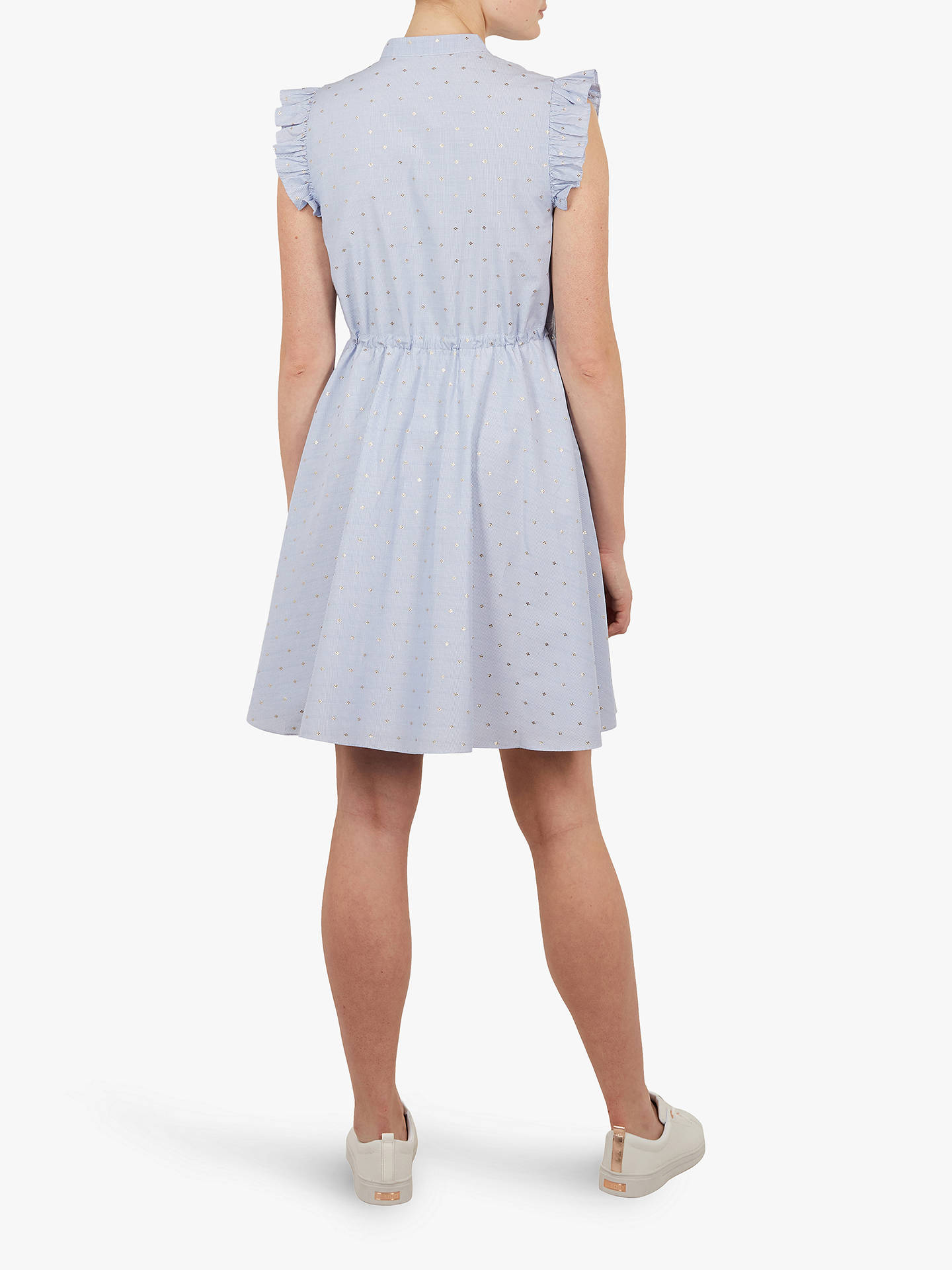 a96022208c7 Ted Baker Beyonc Stand Collar Ruffle Shift Dress, White/Multi
